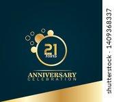 21 years anniversary logo... | Shutterstock .eps vector #1409368337