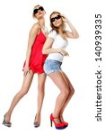 full length two beautiful sexy... | Shutterstock . vector #140939335