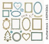 set of doodle frames and other... | Shutterstock .eps vector #140943061