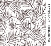 seamless pattern  with tropical ... | Shutterstock . vector #1409431211