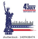 usa independence day july... | Shutterstock .eps vector #1409438474