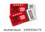 vector cinema tickets isolated...   Shutterstock .eps vector #1409456174