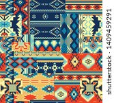 native american style fabric... | Shutterstock .eps vector #1409459291