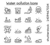 water pollution icon set in... | Shutterstock .eps vector #1409467034