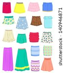 set of summer skirts isolated... | Shutterstock .eps vector #140946871