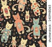 funny vector seamless pattern... | Shutterstock .eps vector #140948065