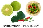 lemon  chili  lemongrass... | Shutterstock . vector #1409483324