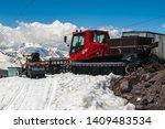 red snowcat transport on white... | Shutterstock . vector #1409483534