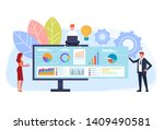 online business strategy... | Shutterstock .eps vector #1409490581
