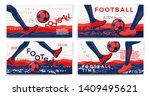vector typographic football... | Shutterstock .eps vector #1409495621