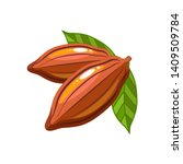 cocoa beans flat style... | Shutterstock .eps vector #1409509784