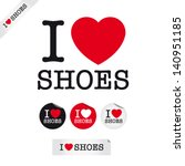 i love shoes  font type with...   Shutterstock .eps vector #140951185