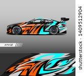car decal wrap design vector....   Shutterstock .eps vector #1409512904