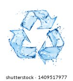 Recycling Sign Made Of Water...
