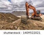 Excavator In A Quarry...