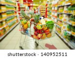 image of cart full of products... | Shutterstock . vector #140952511