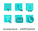 contacts icon   location  geo... | Shutterstock .eps vector #1409526434