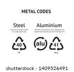 metal recycling codes vector... | Shutterstock .eps vector #1409526491