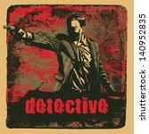 man with revolver pistol and... | Shutterstock .eps vector #140952835