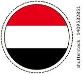 yemen flag sticker on white... | Shutterstock .eps vector #1409532851