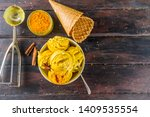 trendy food and drink. organic... | Shutterstock . vector #1409535554