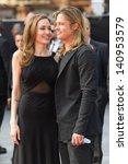 Постер, плакат: Brad Pitt and Angelina