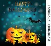halloween party background | Shutterstock .eps vector #140958037