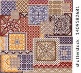 Traditional Colorful Patchwork...