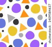 modern geometric seamless... | Shutterstock .eps vector #1409584637