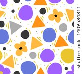 modern geometric figures and... | Shutterstock .eps vector #1409584811