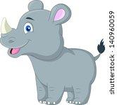 cute rhino cartoon | Shutterstock .eps vector #140960059