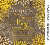 wedding invitation with... | Shutterstock .eps vector #140960929