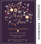 wedding invitation with... | Shutterstock .eps vector #140960935