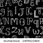 chalk drawing doodle cute... | Shutterstock .eps vector #1409621864