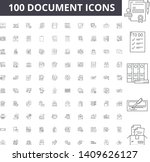 document line icons  signs ... | Shutterstock .eps vector #1409626127
