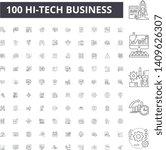 hitech business line icons ... | Shutterstock .eps vector #1409626307
