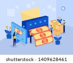 money making machine  business...   Shutterstock .eps vector #1409628461
