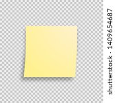 sticky note isolated with... | Shutterstock .eps vector #1409654687