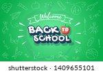 welcome back to school...   Shutterstock .eps vector #1409655101