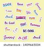 set of bright  fun  trendy...   Shutterstock .eps vector #1409665034