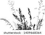 silhouette of grass   black... | Shutterstock . vector #1409668364