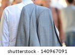 Business man on his way - stock photo