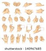 hands in different... | Shutterstock .eps vector #140967685