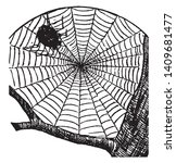 cobweb is a spider web... | Shutterstock .eps vector #1409681477