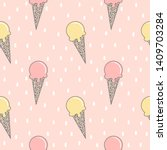 cute colorful hand drawn summer ... | Shutterstock .eps vector #1409703284