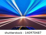 car on the road with motion... | Shutterstock . vector #140970487