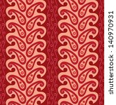 red paisley ornament seamless... | Shutterstock .eps vector #140970931