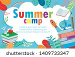 summer camp education concept... | Shutterstock .eps vector #1409733347