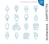 ice cream related icons.... | Shutterstock .eps vector #1409737751