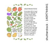 vegetarian food article page... | Shutterstock .eps vector #1409744441